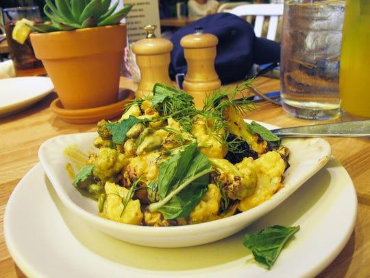 Charred cauliflower at True Food Kitchen in Naples' Waterside Shops.
