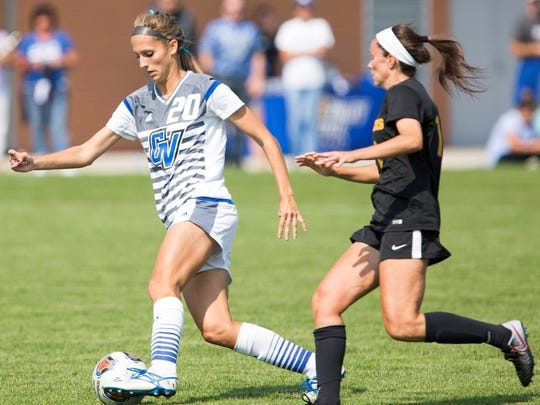 Grand Valley State's Gabriella Mencotti was the nation's leading scorer in NCAA Division II with 30 goals.