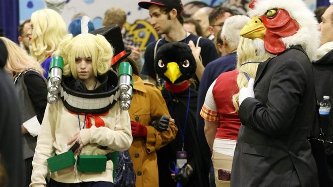 Characters walk the aisles at the 2019 R.I. Comic Con. This year's event has been canceled.