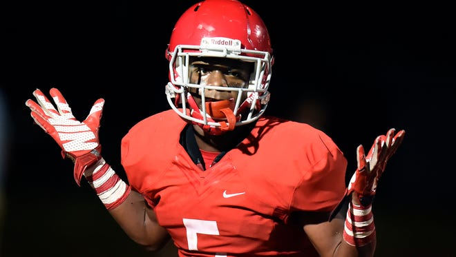 Brentwood Academy running back Tomario Pleasant.