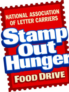 The Stamp Out Hunger drive is May 12, 2018.