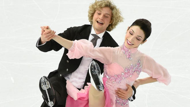 Meryl Davis and Charlie White of the USA hold a huge advantage going into the free dance on Monday at the Olympics.