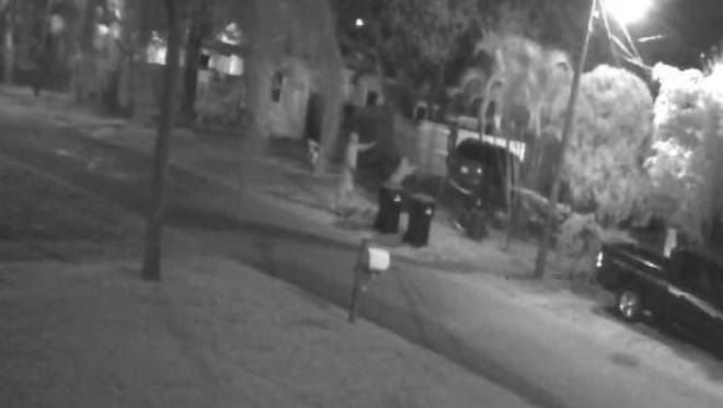 Police hope residents can identify two people who shot at a home in Palm Bay.