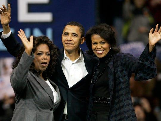 Democratic presidential hopeful, then-senator Barack