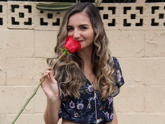 "Arizona Republic reporter Rebecca Smouse poses for a photograph prior to auditioning for ABC's ""The Bachelor"" at McCormick Ranch in Scottsdale on June 16, 2018."