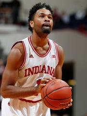 Blackmon shot a free throw against the Alcorn State Braves at Assembly Hall.