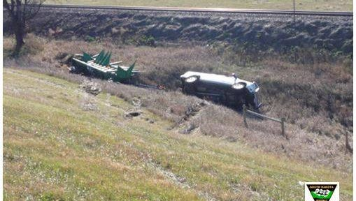 Highway Patrol responded to a vehicle rollover near Alexander Thursday morning.