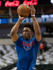 Dec 20, 2017; Dallas, TX, USA; Pistons forward Stanley