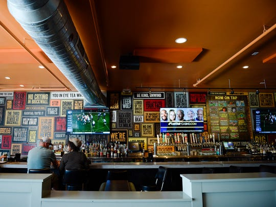 Inside Brickwall Tavern on Union St in Burlington,