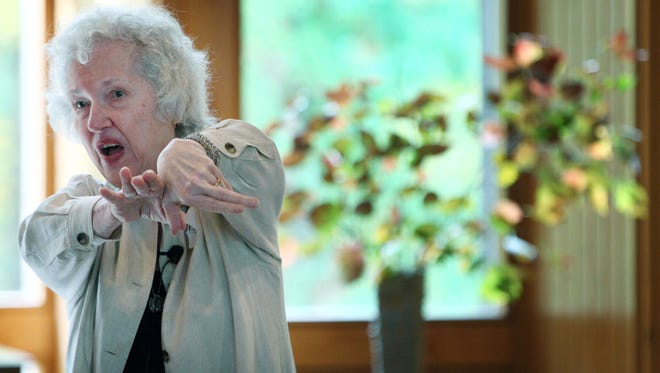 Phyllis Tickle captivates a group at the Pinecrest Conference and Retreat Center in Moscow, Tenn. while speaking about Emergence Christianity.