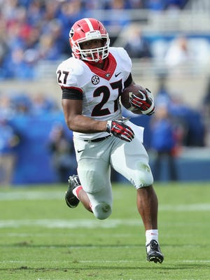 Georgia running back Nick Chubb currently ranks 11th in FBS with 365 rushing yards through three games.