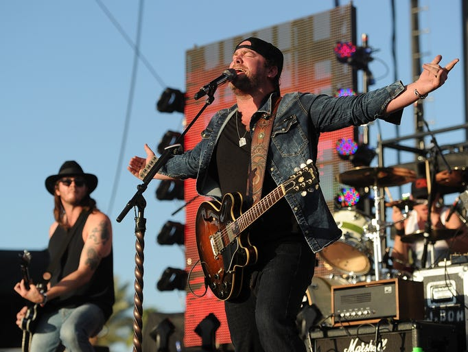 Lee Brice performs on the third day of the 2014 Stagecoach Music Festival at the Empire Polo Field in Indio, Calif., on April 27, 2014.