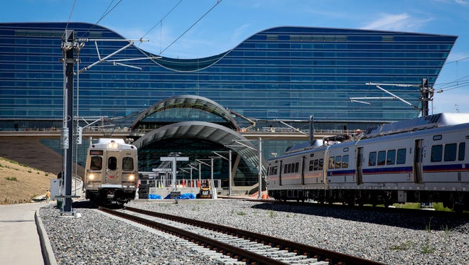 The new Denver Airport Station will be located at the south terminal, underneath the new Westin Denver International Airport Hotel, opening in mid-November 2015.