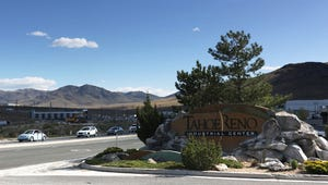 The Tahoe Reno Industrial Center east of Reno in 2018.