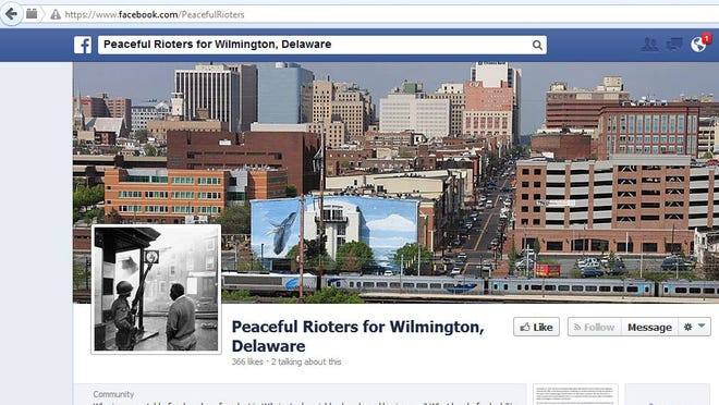 Peaceful Rioters for Wilmington, Delaware posted on its Facebook page that Facebook has received a subpoena from the Delaware Attorney General's office for the identity of the page's owner as part of an ongoing criminal investigation.