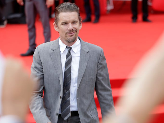 "Ethan Hawke attends the ""Cymbeline"" premiere during the 71st Venice Film Festival on September 3, 2014 in Venice, Italy."