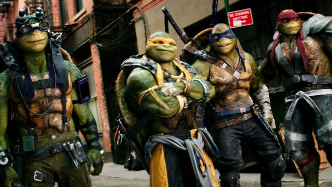 The boys are back in the sequel 'Teenage Mutant Ninja Turtles: Out of the Shadows.'