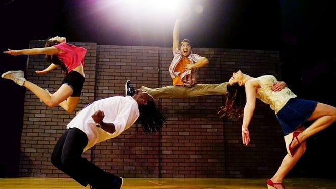 "Bekah Purifoy, left, Chris D. Lee, Arik Vega and Ashley Wolfe perform in ""In the Heights."""