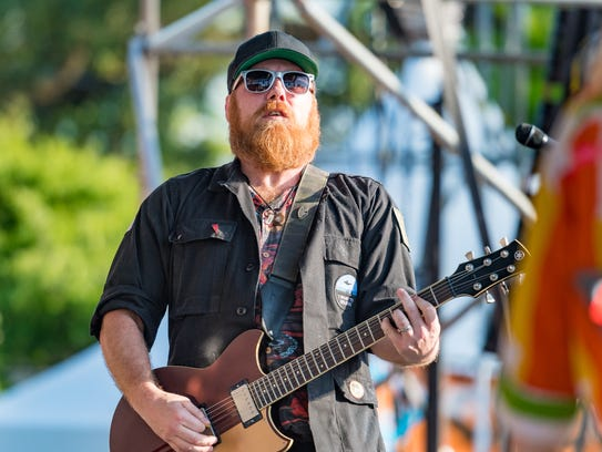 Marc Broussard performs with the Dockside Allstar Hall