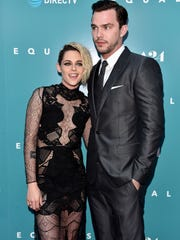 "Kristen Stewart and Nicholas Hoult attend the Hollywood premiere of  ""Equals"" on July 7, 2016."