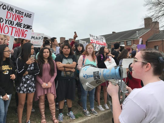 Central High School student Victoria Kessinger speaks