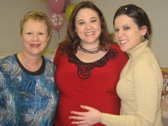 Jessica Dubea (middle) and Jenna Barnes (right) with their mom Donna Reed (left). Jessica said this is one of her favorite photos taken before Donna passed away.