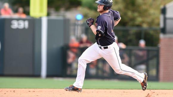Blake Logan (1). Mississippi State vs Auburn Baseball on Saturday, May 14, 2016 in Auburn, Ala.