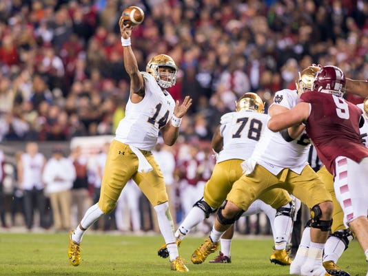 NCAA Football: Notre Dame at Temple