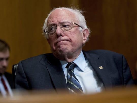 Presidential candidate Sen. Bernie Sanders is pitching