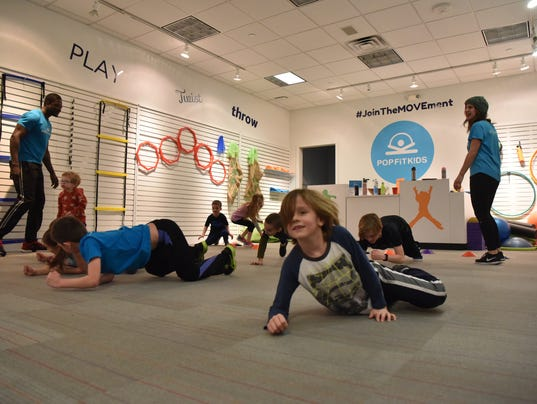 Fitness classes and drop off center for kids at Paramus Park mall
