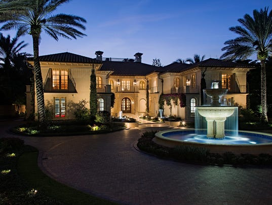 Two gulf front mansions in naples among priciest homes for for Expensive homes in florida