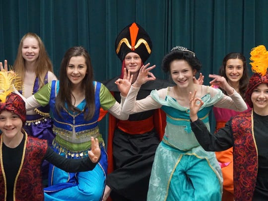 "Actors rehearse for ""Disney's Aladdin Jr."" presented by Xavier Theatre Academy."