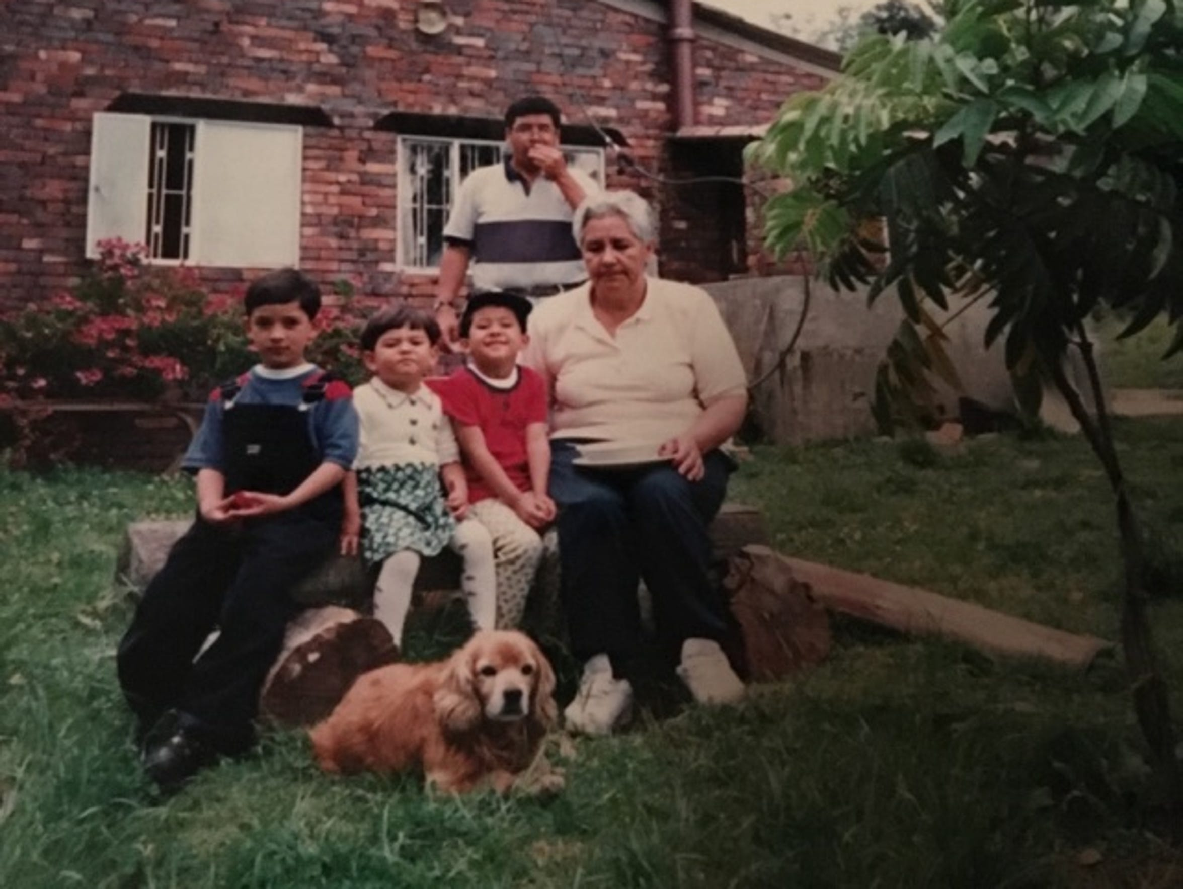 A cousin, Maria Juliana, Juan Rodriguez, their grandmother