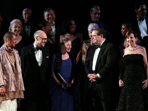 Supreme Court Justices Ruth Bader Ginsburg and Antonin