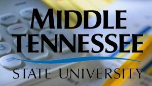 Accounting graphic with MTSU logo