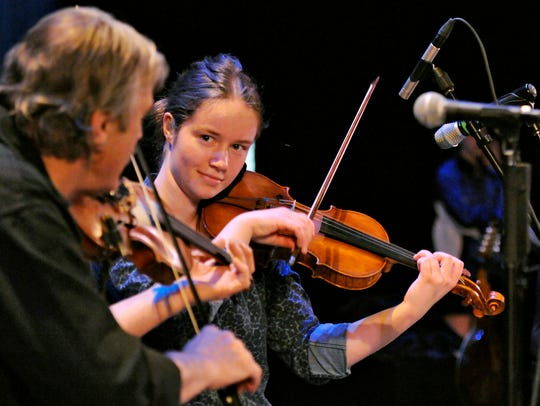 Mairead Howley plays her fiddle with Ring of Kerry