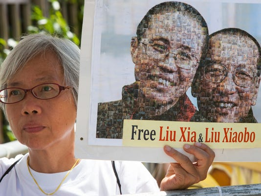 EPA CHINA HONG KONG LIU XIAOBO VIGIL POL CITIZENS INITIATIVE & RECALL CHN SA