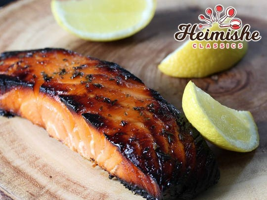 Baked Marinated Salmon