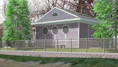 An artist's rendering of the building that would house the proposed United Water Haverstraw Water Supply Project, which would draw water from the Hudson River, treat and desalinate it for use by the majority of Rockland residents.
