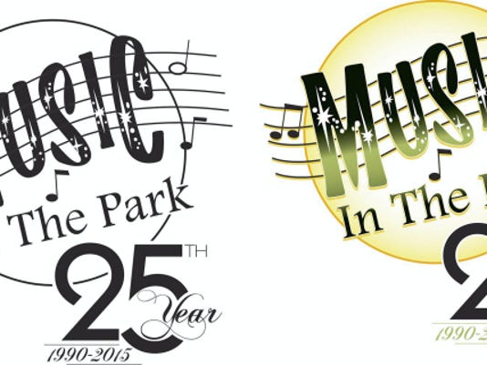 Music in the Park 25 Year Logo