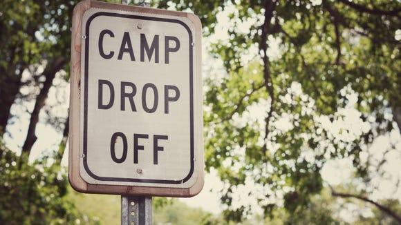 Camp Drop Off sign