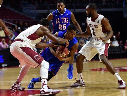 NCAA Basketball: Louisiana Tech at Temple