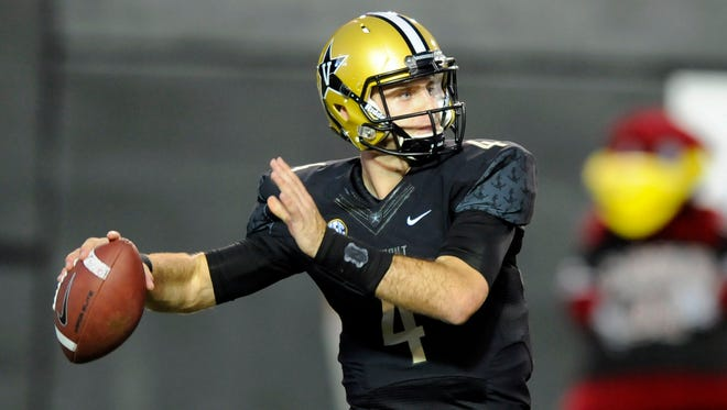 "Vanderbilt quarterback Patton Robinette remains ""questionable"" for Saturday's game at Kentucky with a concussion."