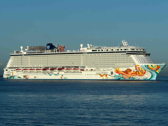 Built at the Meyer Werft shipyard in Papenburg, Germany, the 146,000-ton Norwegian Getaway is a sister to the nine-month-old Norwegian Breakaway and shares the same basic design.