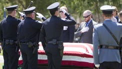Pallbearers honor Phoenix Officer David Glasser  as