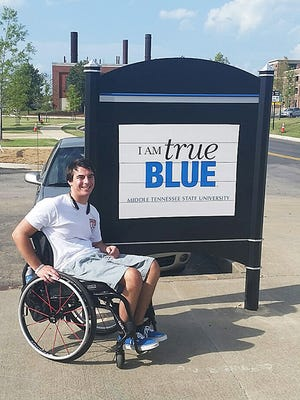Specialized personal care technology enables 21-year-old Caleb Wilson to live independently as an accounting major at Middle Tennessee State University.