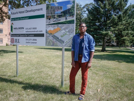 Bakari Caldwell, a student leader at Drake University,