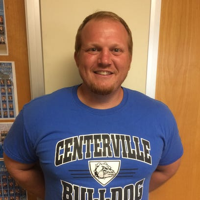 Centerville football coach Kyle Padgett