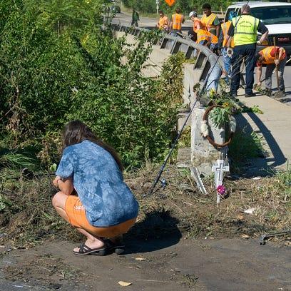 Cindy Hartwick, mother of Deqouya Caroll, at the crash