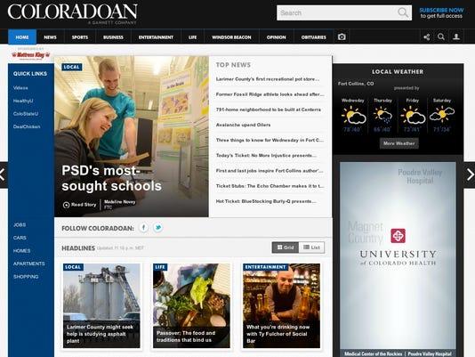 The new Coloradoan.com